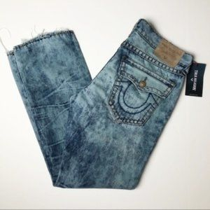 True Religion Ricky Flap Super T Distressed Jeans